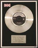 "LOUIS ARMSTRONG  -  7"" Platinum Disc - HELLO DOLLY"